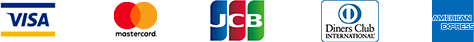 VISA MasterCard JCB DinersClub