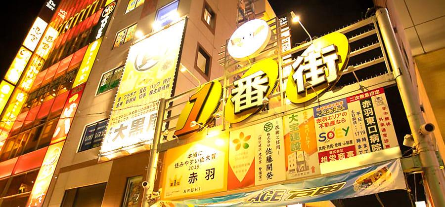 赤羽駅東口一番街の写真