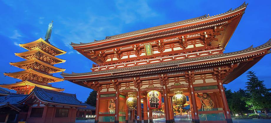 浅草寺雷門の風景写真