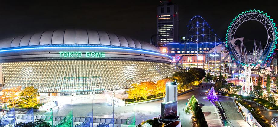 東京ドームシティの夜景写真