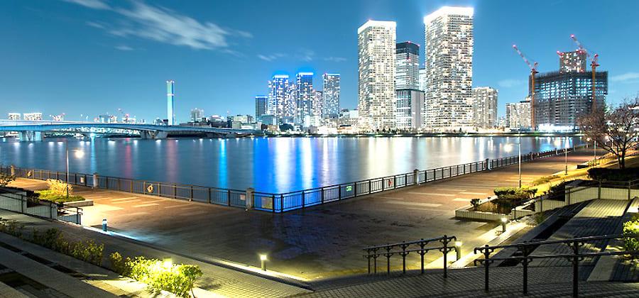 春海橋公園からの夜景写真